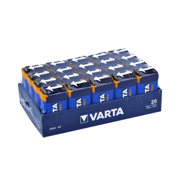 Varta 4022 Endüstriyel Alkalin 9V Pil 2...