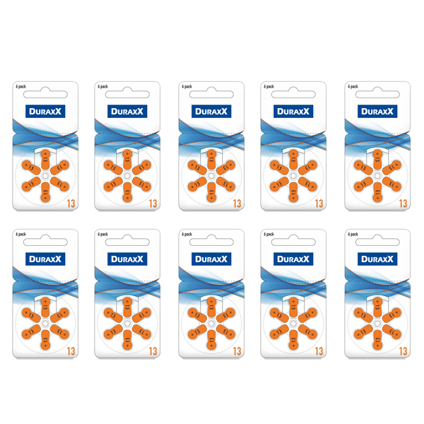 Duraxx 13 Numara İşitme Cihaz Pili 6x1...