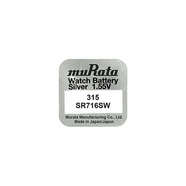 Murata 315 SR716SW Saat Pili