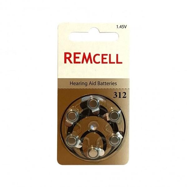 Remcell 312 Numara İşitme Cihaz Pili 6...