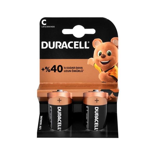 Duracell C Orta Boy Pil 2'li