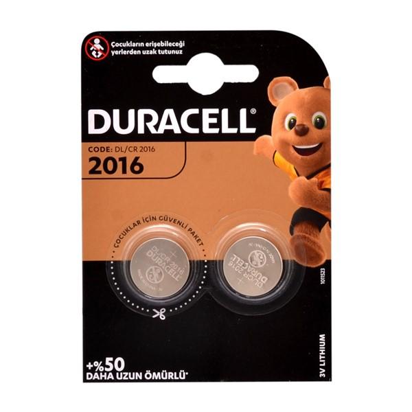 Duracell CR2016 Lithium 3V Pil 2'li