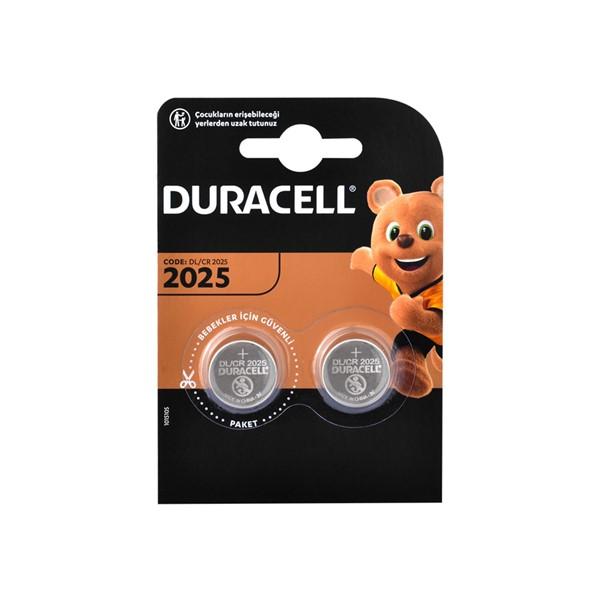 Duracell CR2025 Lithium 3V Pil 2'li