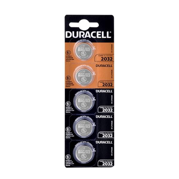 Duracell CR2032 3V Lityum Pil 5'li