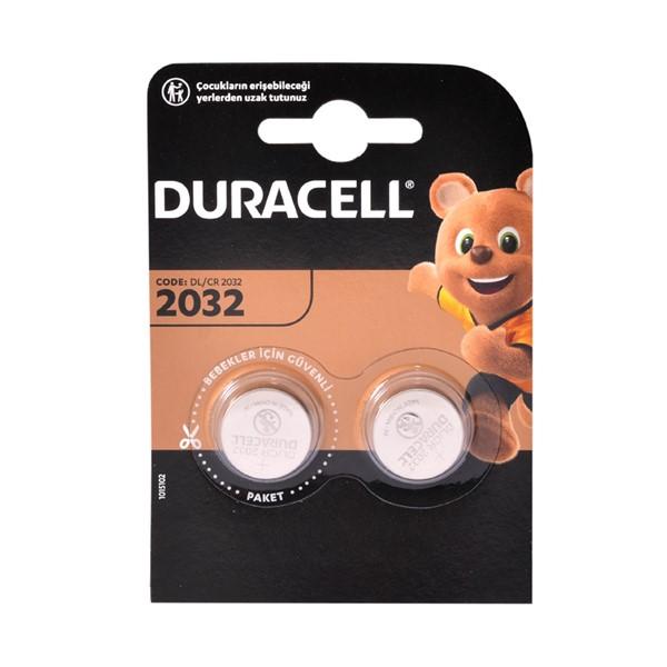 Duracell CR2032 3V Lityum Pil 2'li