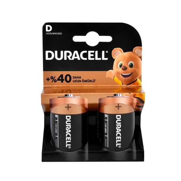 Duracell D Size Büyük Boy Pil 2'li
