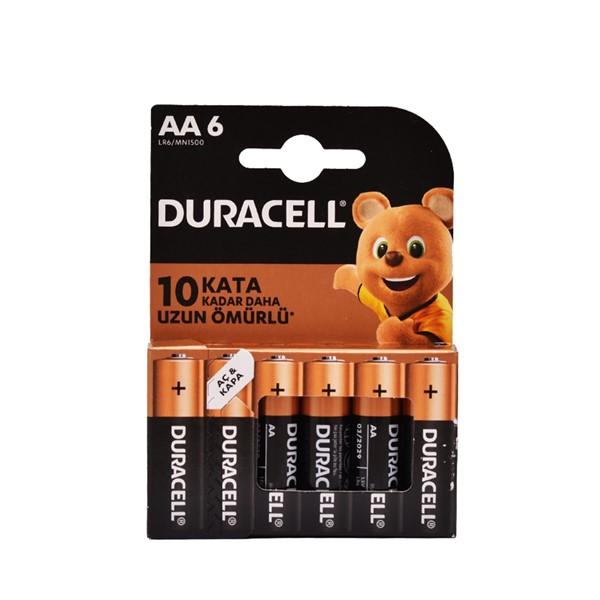 Duracell AA Kalem Pil 6'lı Blister