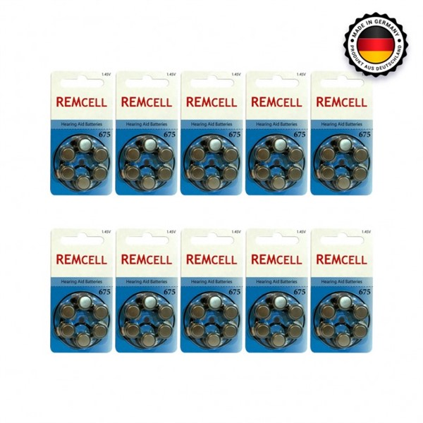 Remcell 675 Numara İşitme Cihaz Pili 6...