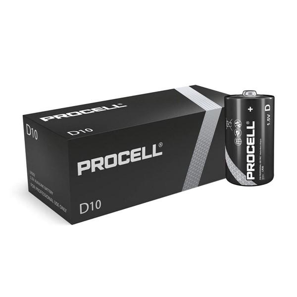Duracell Procell Endüstriyel D Büyük Boy Alkalin Pil 10'lu