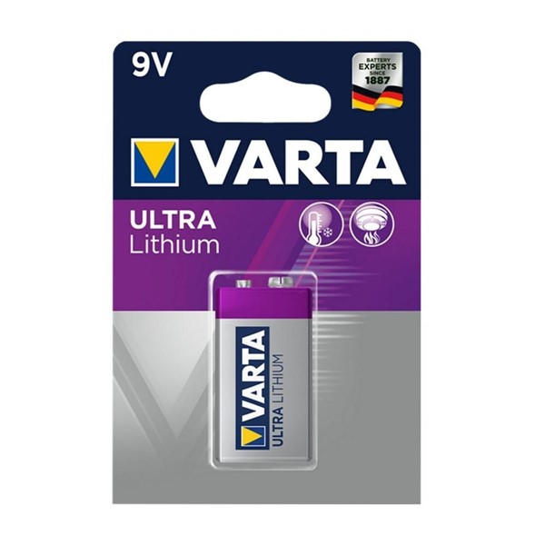 Varta 6122 Profesyonel Lithium 9V Pil