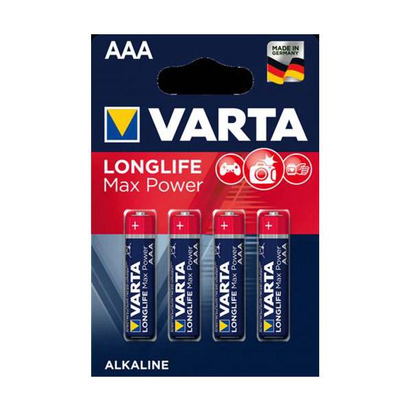 Varta 4703 Longlife Max Power AAA İnce Kalem Pil 4'lü