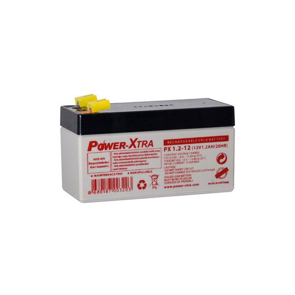 Power-Xtra 12V 1.2 Ah Bakımsız Kuru Ak...