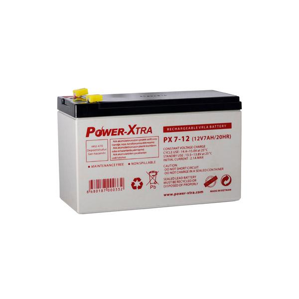 Power-Xtra 12V 7 Ah F1 Pin Bakımsız Ku...