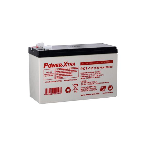 Power-Xtra 12V 7 Ah F2 Pin Bakımsız Ku...