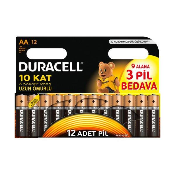 Duracell AA Kalem Pil 9+3