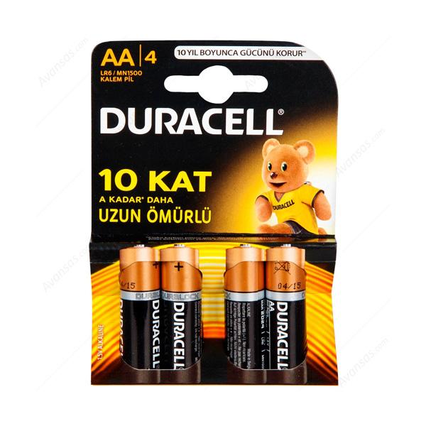 Duracell AA Kalem Pil Alkalin 4'lü