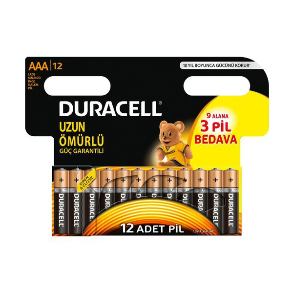Duracell AAA İnce Pil 9+3