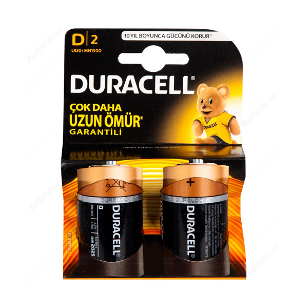Duracell  D Büyük Boy  Pil 2'li